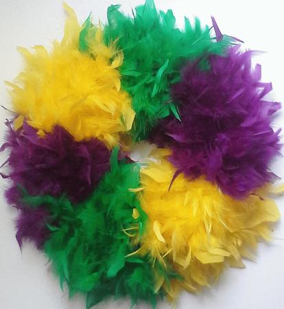 Mardi Gras Feather Wreaths