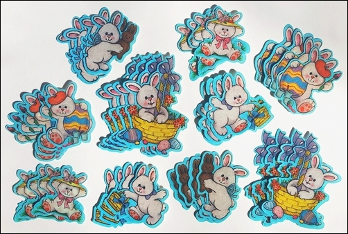 White Easter Bunny Cut-Outs