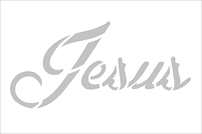 Name of Jesus Cut-Out Mini Card - White