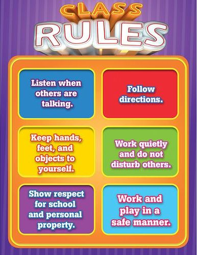 The Purple Class Rules Poster