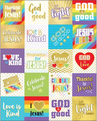 Words of Praise Christian Stickers