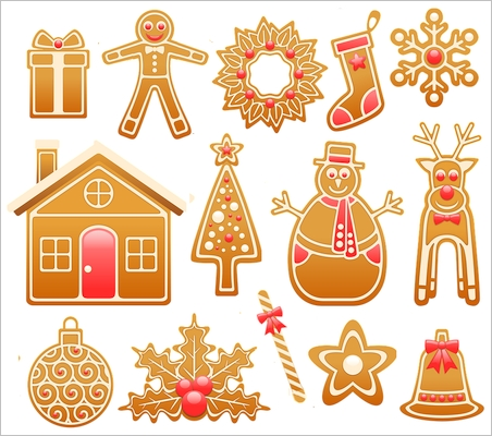Gingerbread Cookies Christmas Stickers