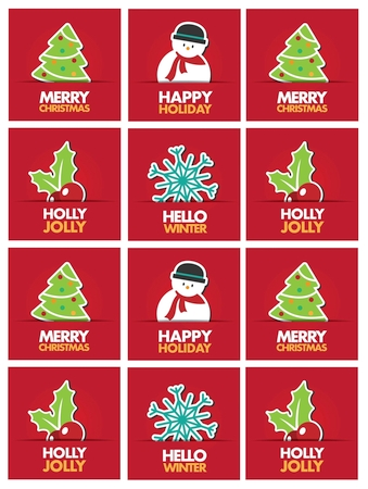 Red Christimas Cheer Stickers