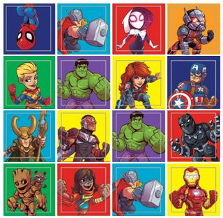 Mini Marvel Comic Stickers